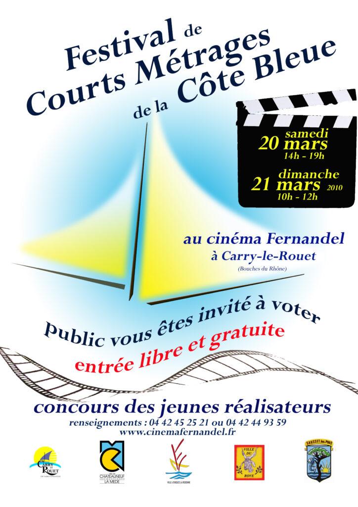 Affiche festival courts métrages de la cote bleue 2010